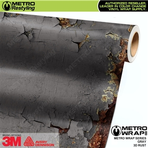Metro 3D Gray Rust Vinyl Wrap Film