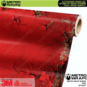 Metro 3D Red Rust Vinyl Wrap Film