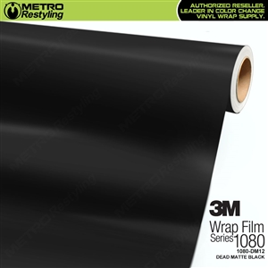 3M 1080 DM12 Dead Matte Black vinyl vehicle wrap film