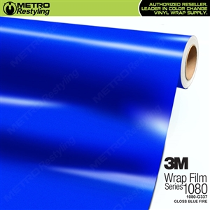 3M 1080 G337 Gloss Blue Fire vinyl car wrapping film