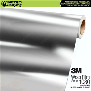 3M 1080 GC451 Gloss Silver Chrome vinyl vehicle wrap film