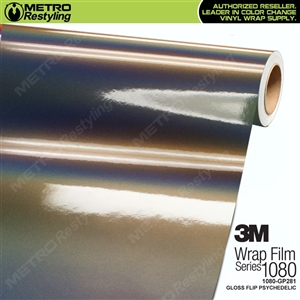 3M 1080 GP281 Gloss Flip Psychedelic vinyl vehicle wrap film