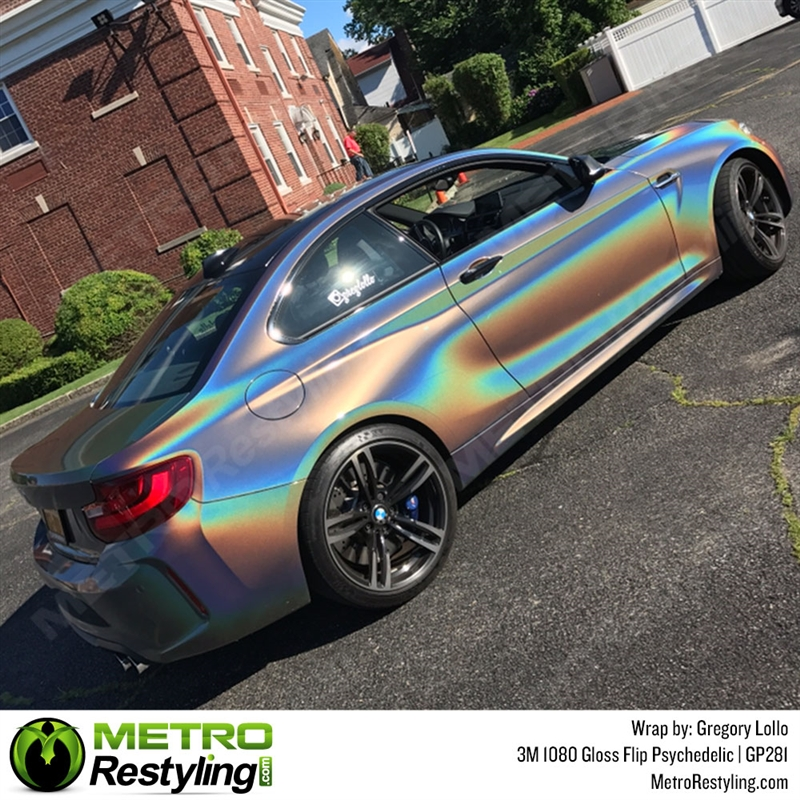 3m 1080 Gp281 Gloss Flip Psychedelic Car Wrap Vinyl Is An Iridescent