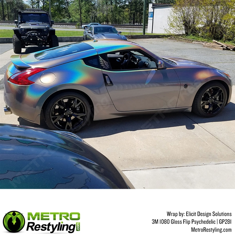 6563ebcd313126 3M 1080 GP281 Gloss Flip Psychedelic car wrap vinyl is an iridescent ...