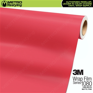 3M 1080 M103 Matte Pink vinyl vehicle wrap film