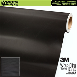 3M 1080 MX12 Matrix Black is a textured honeycomb vehicle wrapping film