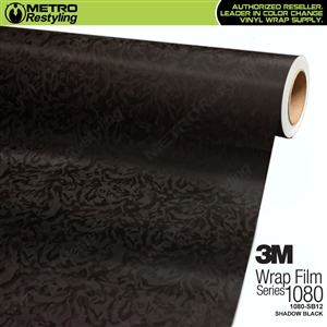 3M 1080 SB12 Shadow Black textured vehicle wrapping film