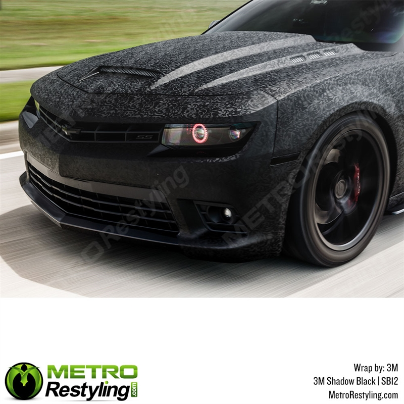 Matte Car Paint >> 3M Scotchprint Series 1080 SB12 Shadow Black textured car vinyl wrap