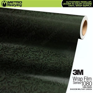 3M 1080 SB26 Shadow Military Green textured vehicle wrapping film
