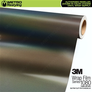 3M 1080 SP281 Satin Flip Psychedelic vinyl vehicle wrap film