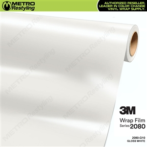 3M 2080 G10 Gloss White vinyl car wrapping film