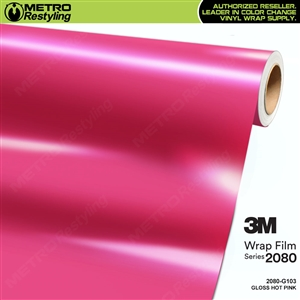 3M 2080 G103 Gloss Hot Pink vinyl car wrapping film
