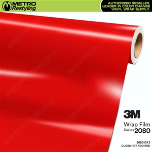 3M 2080 G13 Gloss Hot Rod Red vinyl car wrapping film