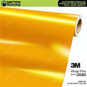 3M 2080 G15 Gloss Bright Yellow vinyl car wrapping film