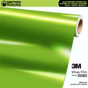 3M 2080 G16 Gloss Light Green vinyl car wrapping film