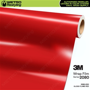 3M 2080 G53 Gloss Flame Red vinyl car wrapping film