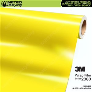 3M 2080 G55 Gloss Lucid Yellow vinyl car wrapping film