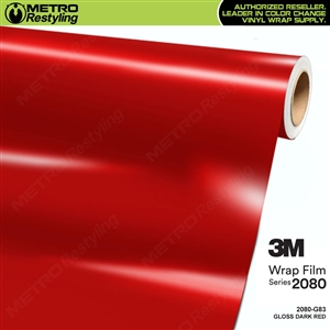3M 2080 G83 Gloss Dark Red vinyl car wrapping film