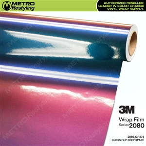 3M 2080 Gloss Flip Deep Space vinyl car wrap