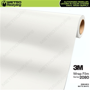 3M 2080 M10 Matte White vinyl car wrapping film