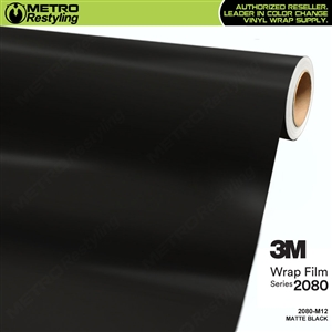 3M 2080 M12 Matte Black vinyl car wrapping film