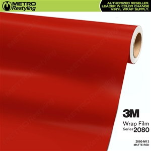 3M 2080 M13 Matte Red vinyl car wrapping film