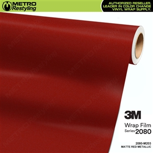 3m matte red metallic wrap
