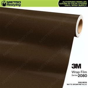 3m matte metallic brown