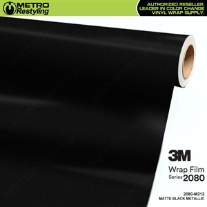 3M 2080 M212 Matte Black Metallic vinyl car wrapping film