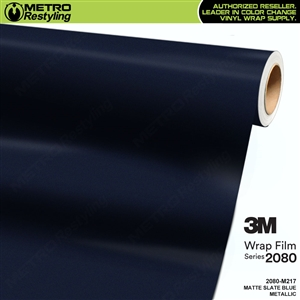 3M 2080 M217 Matte Slate Blue Metallic vinyl car wrapping film