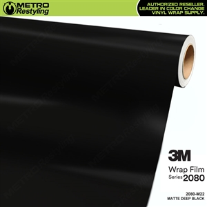3M 2080 M22 Matte Deep Black vinyl car wrapping film