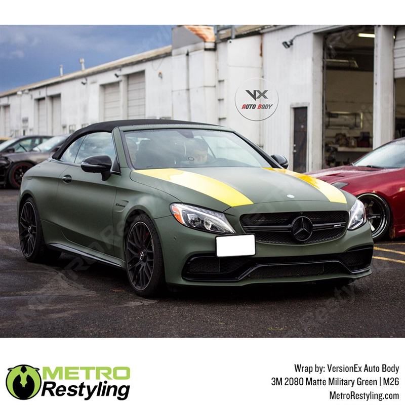 3M 1080 Matte Military Green Air-Release Vinyl Wrap Roll Including Toolkit 2ft x 5ft