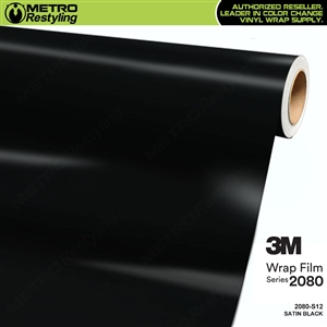 3M 2080 S12 Satin Black vinyl car wrapping film