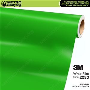 3M 2080 S196 Satin Apple Green vinyl car wrapping film
