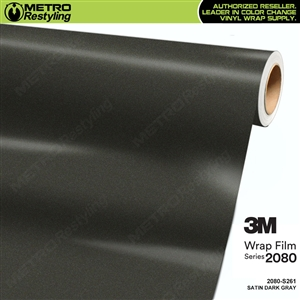 3M 2080 S261 Satin Dark Gray vinyl vehicle wrapping film