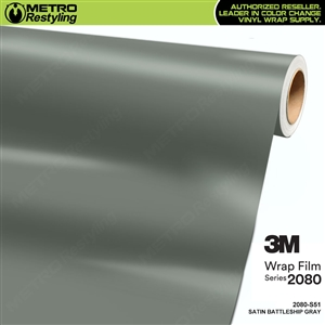3M 2080 S51 Satin Battleship Gray vinyl vehicle wrapping film