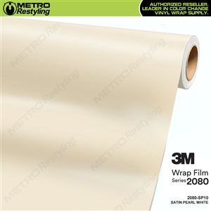 3M 2080 SP10 Satin Pearl White vinyl vehicle wrapping film