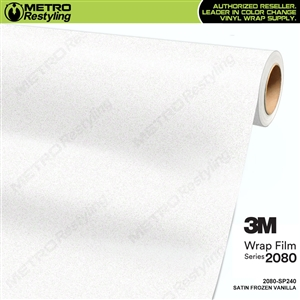 3M 2080 Satin Frozen Vanilla vinyl car wrap