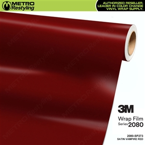 3M 2080 SP273 Satin Vampire Red vinyl car wrapping film