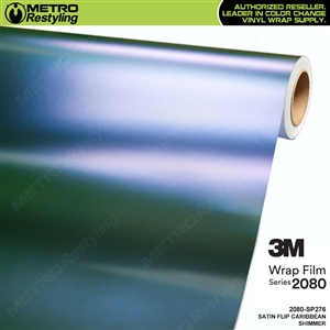3M 2080 SP276 Satin Flip Caribbean Shimmer vinyl vehicle wrap film