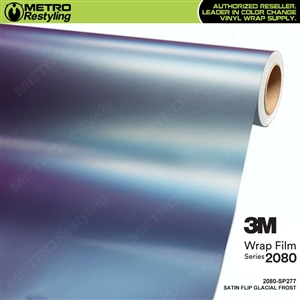 3M 2080 SP277 Satin Flip Glacial Frost vinyl vehicle wrap film