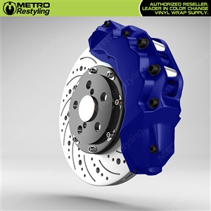 Dark Blue Brake Caliper Wrap