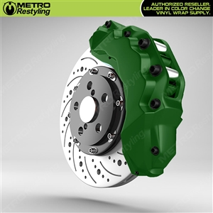 Green Brake Caliper Wrap