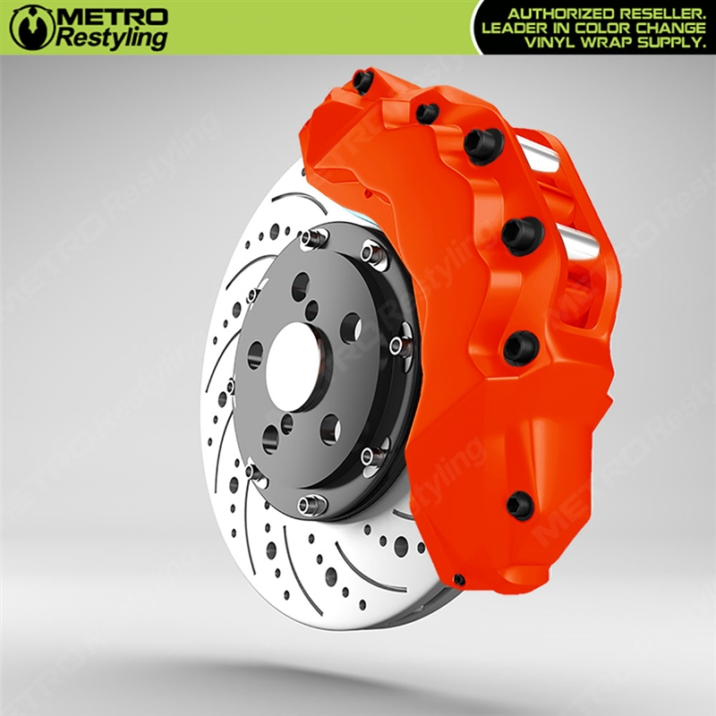 Orange Brake Caliper Wrap