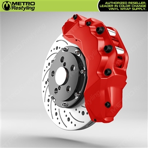 Red Brake Caliper Wrap