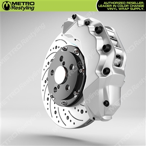 White Brake Caliper Wrap