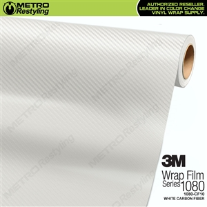 3M Scotchprint 1080 CF10 White Carbon Fiber Vinyl Wrap