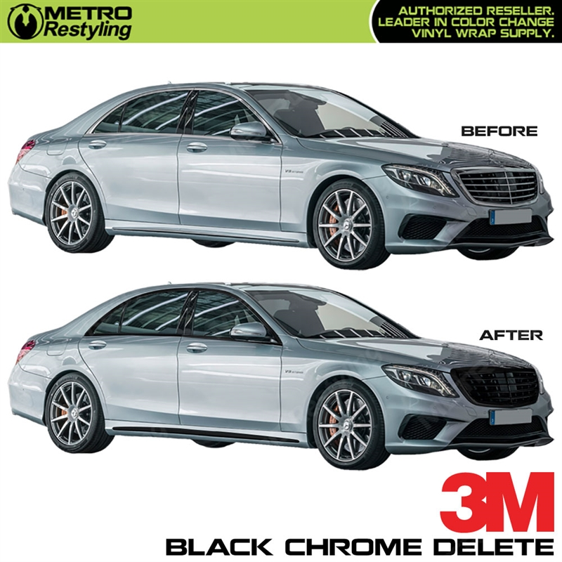 3M Black Vinyl Roll for Car Chrome Delete