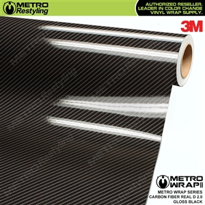 3M Printed High Gloss Real D Black Carbon Fiber 2.0 Vinyl Wrap