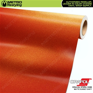 ORACAL Series 970RA-100M Matte Sunset Premium Shift Effect Vinyl Car Wrap